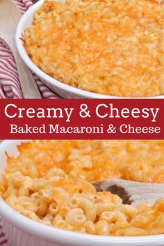 Creamy Baked Macaroni and Cheese by Divas Can Cook Creamy Baked Macaroni And Cheese Recipe, Mac Cheese Recipes, Mac And Cheese, Baked Cheese, Rice Recipes, Chicken Recipes, Casserole Dishes, Casserole Recipes, Cornbread Casserole