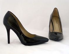 New Pointy Toe Heels Pumps Neon Patent Pink Green Yellow Black Momentum 06N 6 10 | eBay