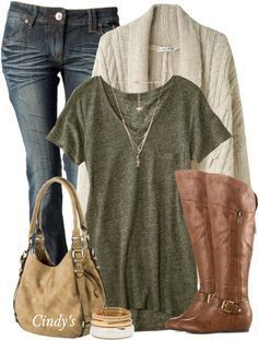 Simple Casual Fall Outfit With Cable Oversize Cardigan. Like this comfy and casual look. Fashion Mode, New Fashion Trends, Look Fashion, Fashion Outfits, Womens Fashion, Fashion Ideas, Fashion Fall, Fashion Tips, Fashion Scarves