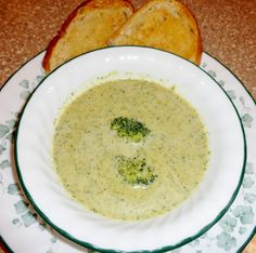 Cheesy Broccoli Soup from our October VegCookbook, Chloe's Kitchen