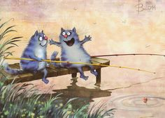 Cat fish this big... © Irina Zeniuk