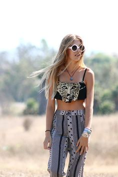 Crop top + high waisted pants  y&i clothing boutique | shopyandi.com