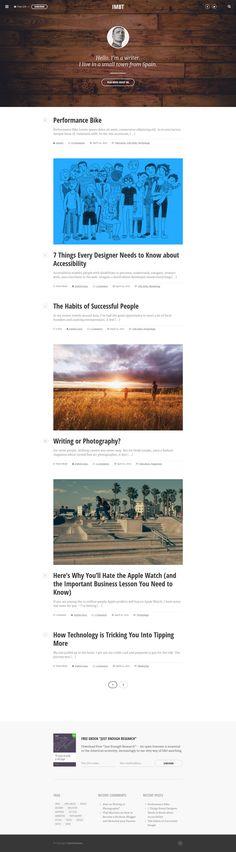 IMBT - Internet Marketing Blog Theme #webdesign #website Download: http://themeforest.net/item/imbt-internet-marketing-blog-theme/11826690?ref=ksioks