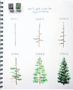 """ "" ✨ // ✨ – Julie – Wholepics Daily Pin Store The post "" "" ✨ // ✨ – Julie appeared first on Woman Casual - Drawing Ideas Watercolour Tutorials, Watercolor Techniques, Art Techniques, Painting Tips, Painting & Drawing, Watercolor Trees, How To Watercolor, Easy Watercolor Paintings, Watercolor Beginner"