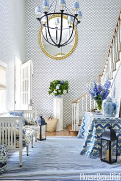 The Blue and White Entryway