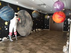 16 Ideas Camping Theme Props For 2019 Outer Space Party, Outer Space Theme, Vbs Themes, School Themes, School Ideas, Vacation Bible School 2017, Space Baby Shower, Outer Space Decorations, Space Classroom