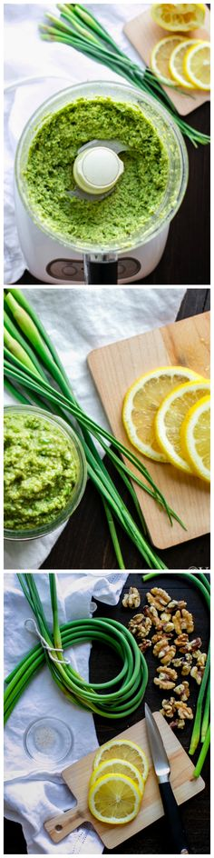 Garlicky, creamy and a bit spicy, this Garlic Scape Pesto packs a punch of flavor on your favorite pasta, sandwich, pizza or salad! In season and delicious!