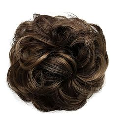 Amazon.com : PRETTYSHOP Scrunchie Scrunchy Bun Up Do Hair piece Hair Ribbon Ponytail Extensions Wavy Curly or Messy brown mix 32AH12 : Beauty