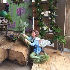 Fairy Garden  Garden Fairy with Handcrafted by OliveNatureFolklore