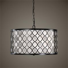 Uttermost Filigree 3 Light Drum Pendant (22062)