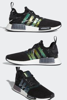 adidas NMD Release Info Space themes are nothing new to adidas, but they are slowly taking over the German brand's mainstay line of products – most notably the Ultra Boost and NMD rosters. Having enjoyed a recent Darth Vader-ins Adidas Nmd R1 Mens, Adidas Ultra Boost Uncaged, Shopping List Grocery, Gold Caps, Space Theme, Meteor Shower, New Trends, Fasion, Adidas Sneakers