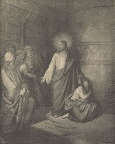 Illustration about Picture from The Holy Scriptures, Old and New Testaments books collection published in Stuttgart-Germany. Drawings by Gustave Dore. Illustration of famous, gustave, aged - 24929004 Gustave Dore, Bible Illustrations, Illustration Art, Adulterous Woman, Religious Paintings, Biblical Art, Bible Art, Art Reproductions, Art History