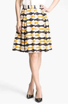 #alishopspinfest: kate spade new york 'jolie' silk skirt - pair volume with a fitted top