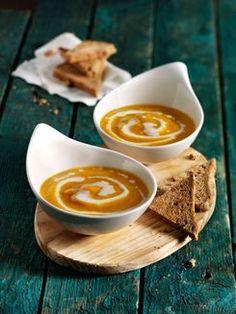 Rezept für eine vegane Kürbissuppe.