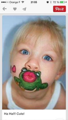 Grenouille maquillage enfant