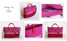 Smart-ies bag in pink and red. With red handle....!