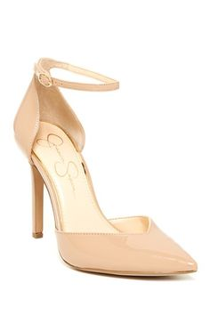 Nude pointed pumps by Jessica Simpson on @HauteLook