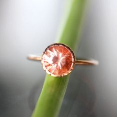 Oregon Sunstone In 14K Rose Gold Ring - Ready To Ship