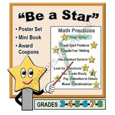 4th grade weekly test prep 2 daily practice assessment math one day giveaway display signs for math practices habits help your students become stars in math by emphasizing the practice standards this fandeluxe Gallery