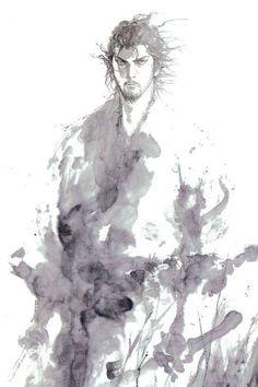 Manga Anime, Art Anime, Manga Art, Ronin Samurai, Samurai Warrior, Ink Illustrations, Illustration Art, Vagabond Manga, Character Art
