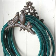 Wrought Iron Bird Hose Holder Http://www.ironaccents.com/154 Br14.html