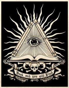 All Seeing Eye Esoteric Art Print Gothic Macabre by TigerHouseArt