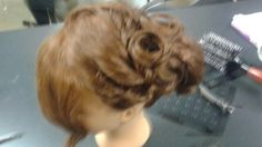 Updo twist n pin curl