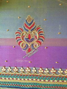 Lotus Flower Design, Flower Designs, Thread Work, Work Blouse, Blouse Designs, Brooch, Embroidery, Blouses, Sleeves
