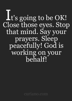 God is working on your behalf!