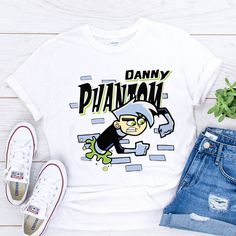 danny phantom t shirt - Navy, XL, Unisex T Shirt