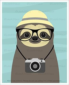 Cute Animal Quotes, Cute Animals, Cute Sloth Pictures, Funny Pictures, Sloth Tattoo, Kawaii Drawings, Cute Images, Cute Stickers, Cute Cartoon