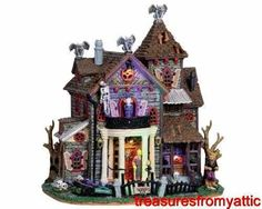 Lemax Spooky Town 13 GHASTLY LANE #05003 NRFB Halloween Lighted w/ SPQQKY Sounds