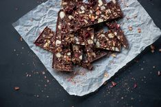 Cranberry, Almond and Rose Chocolate Bark -
