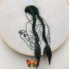 Embroidery Art and Hand Craft Artist-Model: Sheena Liam | ARTWOONZ  <br> Embroidery Art and Hand Craft Artistl: Sheena Liam was born on May 7, 1991 in Selangor, Malaysia. She is a fashion model, hand craft and embroidery artist Embroidery Hoop Decor, Hand Embroidery Stitches, Modern Embroidery, Cross Stitch Embroidery, Embroidery Designs, Diy Arts And Crafts, Yarn Crafts, Instagram, Router Wood