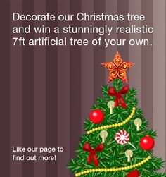 [GIVEAWAY] WIN a luxury artificial Christmas tree by decorating a Christmas tree of your own on our website🎄 Validate your entry by making your post public & by using our hashtag 🌟 Remember to share with your family and friends Artificial Tree, Tree Decorations, Something To Do, Giveaway, How To Find Out, Competition, Public, Presents, Christmas Tree
