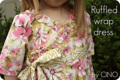 I love this dress! My girls will too. What a cute fall/spring pattern!
