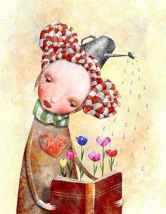 Con la lectura, derramamos fantasía y hacemos que florezcan palabras, sentimientos y pensamientos sanos y positivos...