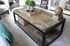 Industrial Coffee Table made by The Rugged Rooster Creations