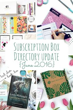 This Subscription Box Directory update has something for everyone! Book boxes, clothes, beauty, and geeky items abound.