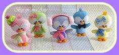 Pinguins feltro www.facebook.com/lenaarts2014