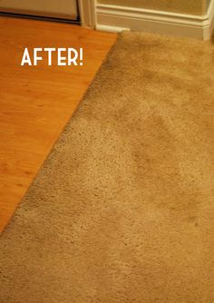 Once again- baking soda and vinegar (and a few other steps). Tough stain remover for carpets.