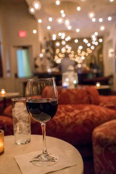 A glass of wine at Loa bar inside International House, a New Orleans boutique hotel. #FindYourNOLA #ad