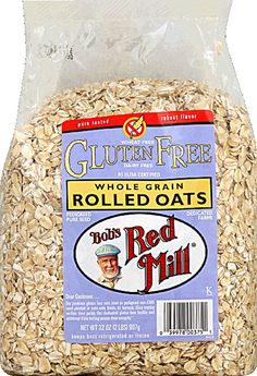 Bob's Red Mill Gluten Free Whole Grain Rolled Oats - a must in any (healed) Celiac's pantry. #VitacostNFCA