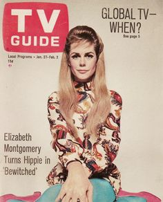 Elizabeth Montgomery on the cover of TV Guide, 1968.