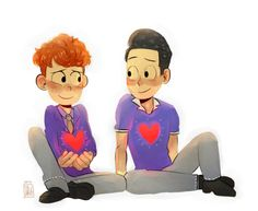 In a heartbeat Drawn Together, Youtube Sensation, Lgbt Love, Heart Beat, School Boy, Cute Gay, In A Heartbeat, Cartoon Characters, I Am Awesome