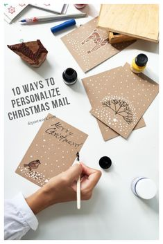 Up your snail-mail game this holiday season with crafty touches that make a ho-hum envelope merry and bright. Christmas Mail, Christmas Gift Tags, Christmas Wrapping, Christmas Cards, Christmas Decorations, Christmas Ideas, Christmas Envelopes, True Meaning Of Christmas, Happy Birthday Jesus