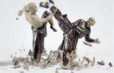 Juxtapoz Magazine - The Crashing of Porcelain by Martin Klimas
