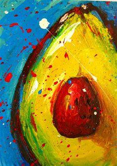 """""""Crazy Avocado III"""" - Original Fine Art for Sale - © Patricia Awapara"""