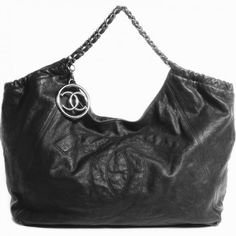 c99c731f9800 Chanel Black Distressed Caviar Leather Cabas Jumbo Bag. Perfection! Chanel  Caviar