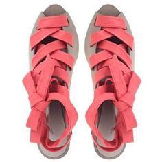 Finsk Tie Front Heeled Sandals